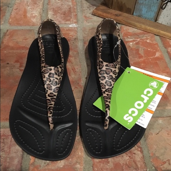 sklep internetowy najlepsze oferty na super promocje CROCS Sexi Flip Sandal Leopard NWT